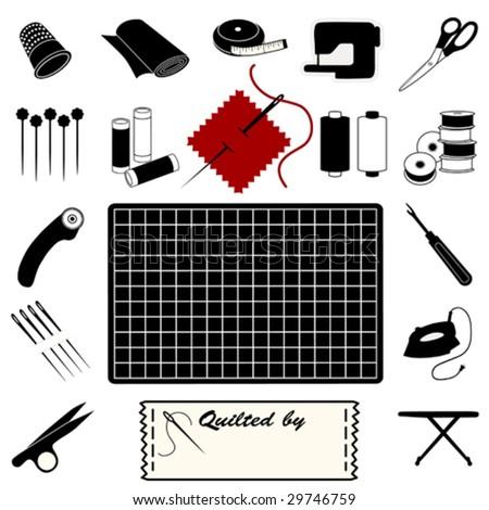 Quilting tools patchwork applique textile art stock photo photo quilting tools for patchwork applique textile art do it yourself crafts cutting solutioingenieria Gallery