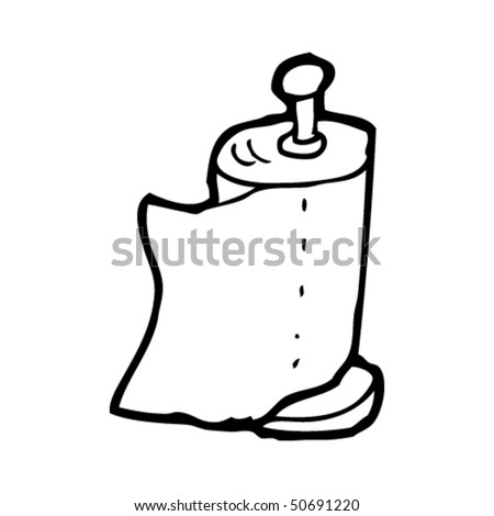 quirky drawing of a kitchen paper roll