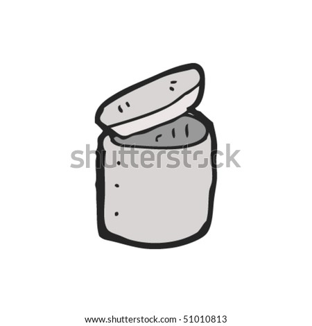 quirky drawing of a pot