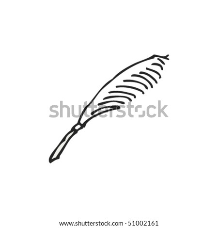 quirky drawing of a quill