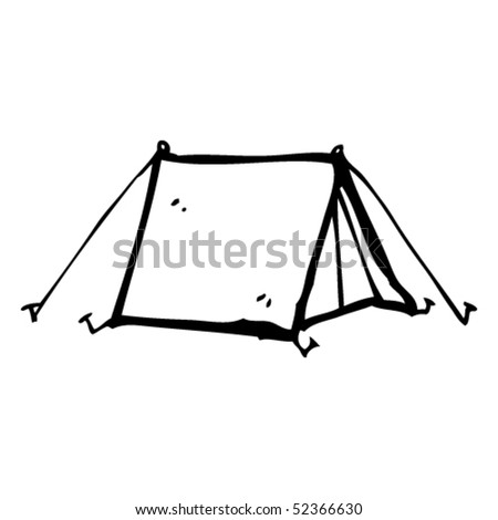 quirky drawing of a tent