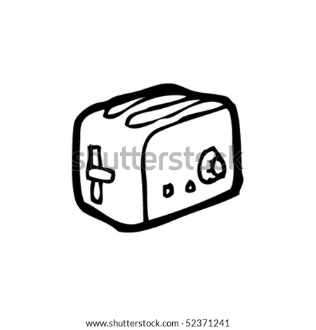 quirky drawing of a toaster
