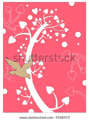 quirky heart tree