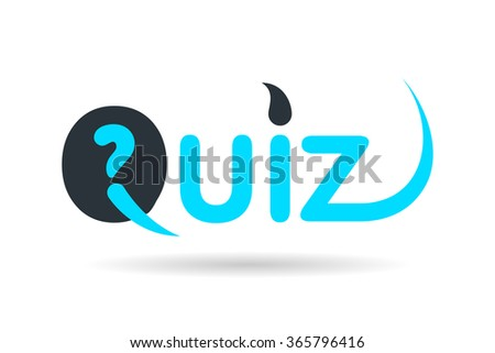 Quiz flat vector illustration