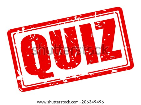 QUIZ red stamp text on white - stock vector