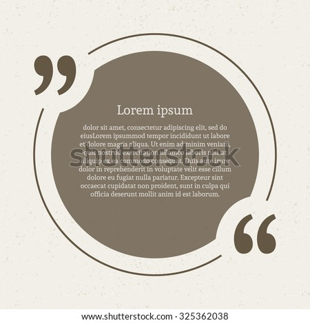 Quotation mark speech bubble empty quote stock vector 325362038 quotation mark speech bubble empty quote blank citation template circle design element for business reheart Images