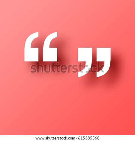 quotation marks symbol isolated on red stock vector royalty free