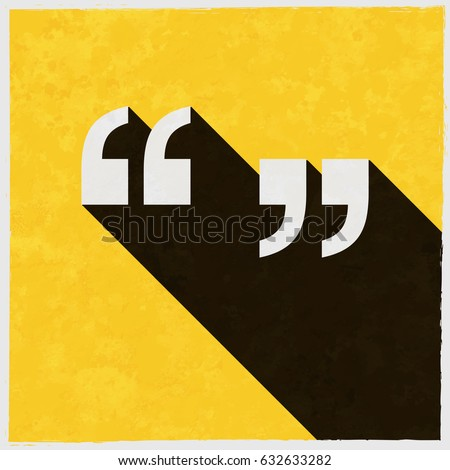 Quotation Marks Symbol On Retro Poster Stock Vector 632633282