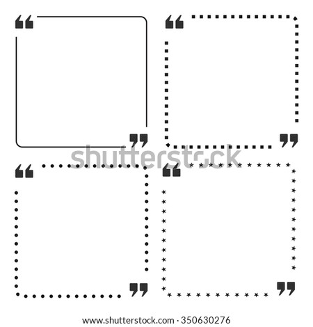 quote box frame design - stock vector