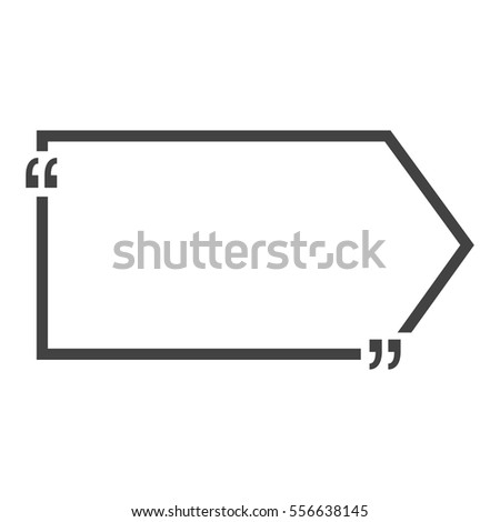 Quote Bubble Blank Templates Empty Business Stock Vector - Business card blank template