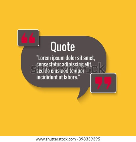 Quote Bubble Empty Quote Template Your Stock Photo Photo Vector