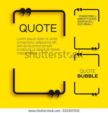 quote bubble speech bubble citation text stock vector 326365502