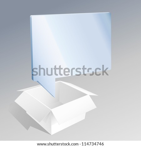 Quote from a Box - stock vector