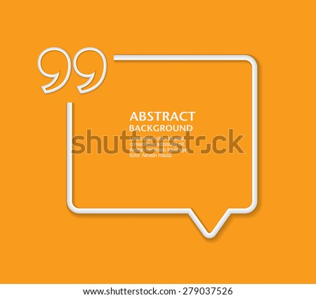 Quote sign icon. Quotation Mark Speech Bubble symbol. Vector - stock vector