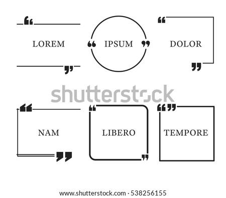 quote template quotes speech box bubble stock vector 538256155