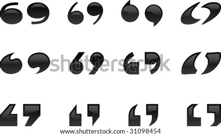 Quoticons - stock vector
