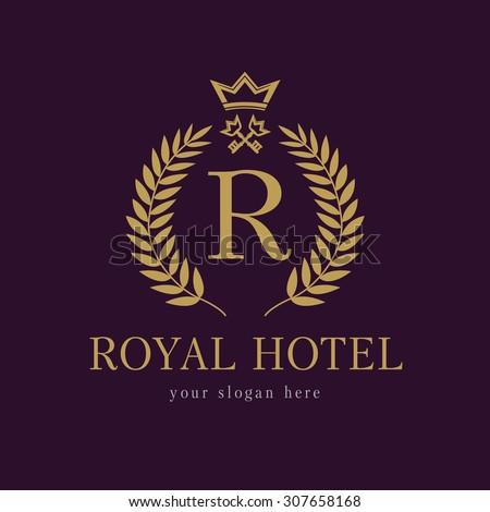 R company logo luxurious hotel coat stock vector 307658168 for Luxury hotel company