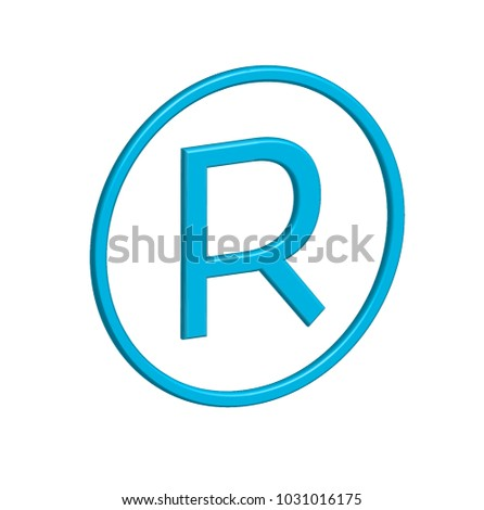 R Copyright 3d Icon Vector Graphics Stock Vector 1031016175