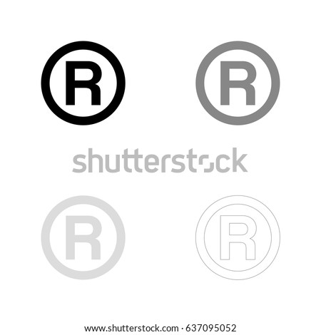 R Registered Trademark Symbol Black Gray Stock Vector Hd Royalty