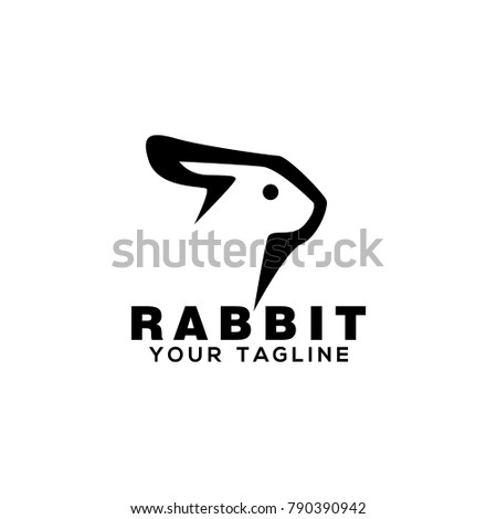 Rabbit Logo Design Stock Vector Hd Royalty Free 790390942