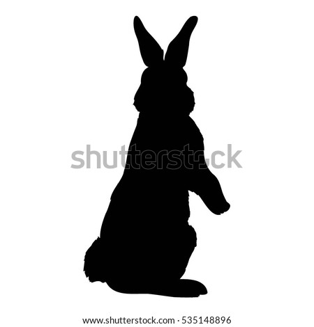 rabbit silhouette stock images royalty free images
