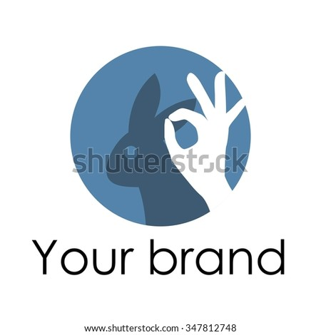 Rabbit Silhouette Shades Hands Logo Stock Vector Hd Royalty Free