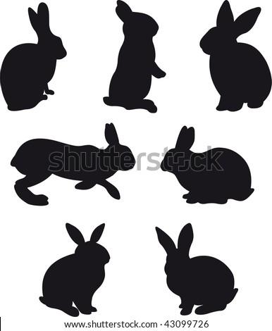 Rabbit vector - stock vector