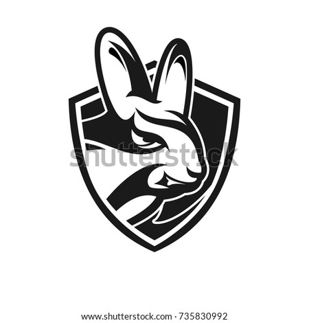 Mascot Rabbit For Sport Teams Stock Images Royalty Free