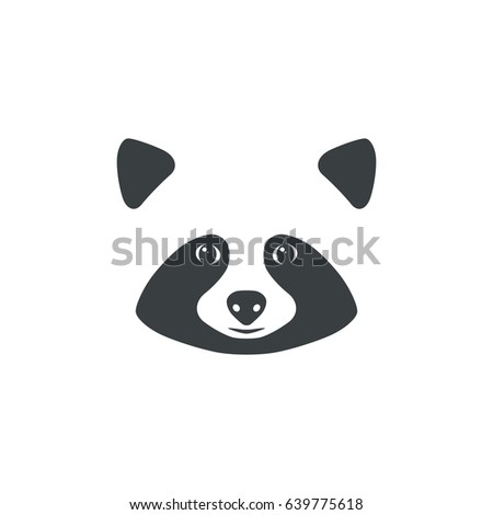 Raccoon Face Raccoon Mascot Idea Logo Stock Vector ... Raccoon Face Illustration