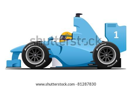 Race car Formula 1 - stock vector