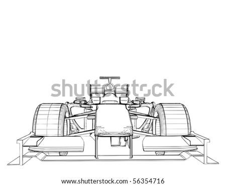 Race Car Vector 03 - stock vector