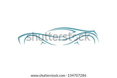 Race car - vector illustration - stock vector