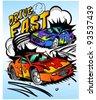 race cars - stock photo