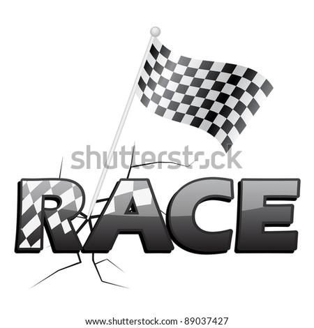 RACE FLAG - stock vector