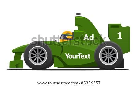 Race Formula 1 Car - stock vector