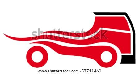 race truck - stock vector