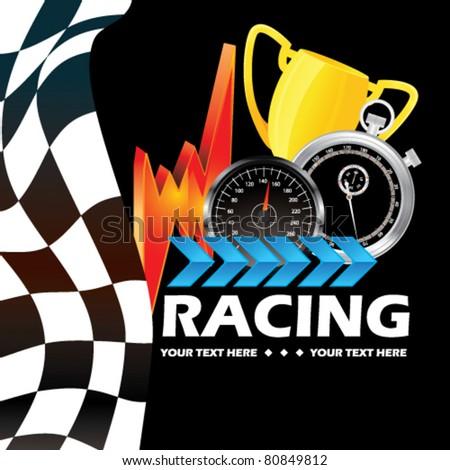 Racing - stock vector