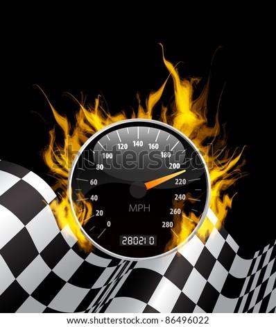 Racing Background - stock vector