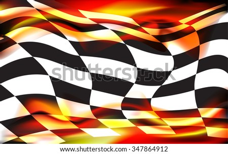 racing background checkered flag wawing - stock vector