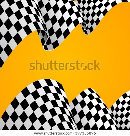 Racing Background  Flag. Vector illustration - stock vector