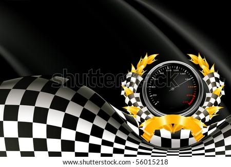 Racing Background, vector - stock vector