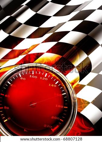 Racing Background Vertical, 10eps - stock vector