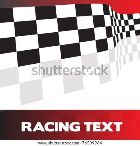 racing background with banner eps10 - stock vector