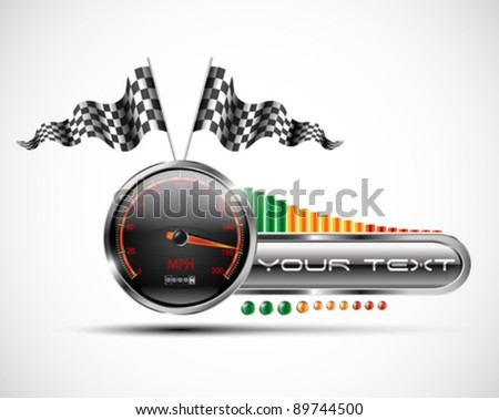 Racing banner design elements - stock vector