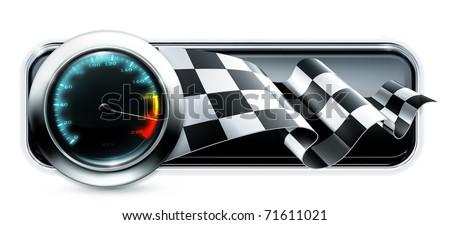 Racing banner, 10eps - stock vector