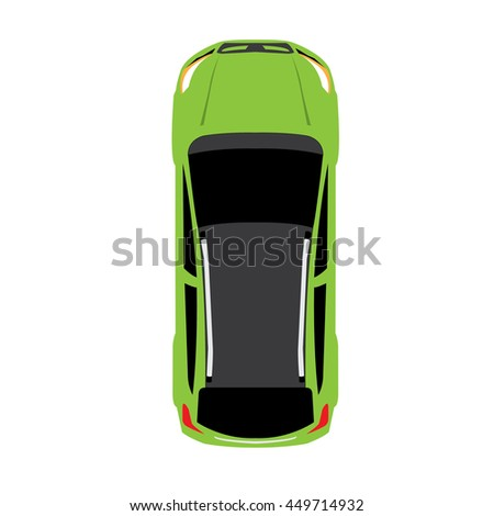 Vector Car Vehicle Icon Top View Stock Vector Shutterstock