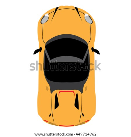 Racing car graphic design, Vector illustration, top view