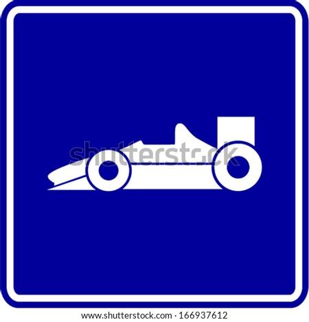 racing car sign - stock vector