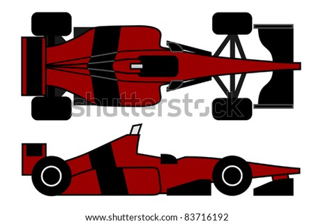 Racing car with innovative design - stock vector