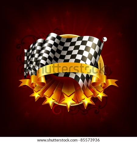 Racing emblem, 10eps - stock vector